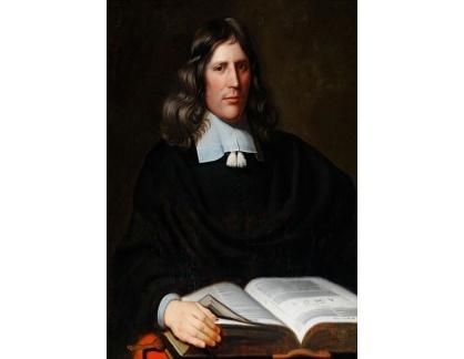 Slavné obrazy I-DDSO-73 Cristoffel Pierson - Portrét kněze s knihou