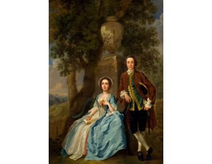 Slavné obrazy XVII-87 Francis Hayman - George a Margaret Rogers