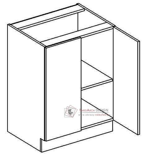 Dolní skříňka dvoudvéřová D60 NORA hruška