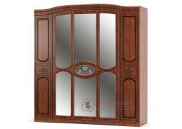 MILANO, šatní skříň 5-ti dveřová 215cm, třešeň