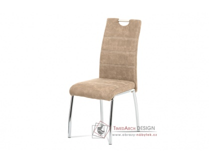 HC-486 CRM3, jídelní židle, chrom / látka krémová