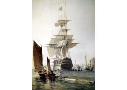 VL104 George Hyde Chambers - Loď Britannia v přístavu Portsmouth