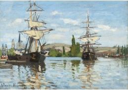 D-7075 Claude Monet - Lodě plující po Seině v Rouen