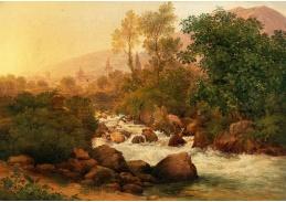 D-9517 Josef Rebell - Krajina s horským potokem