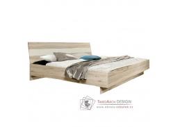 VALERIA, postel 180x200cm, dub pískový / bílá