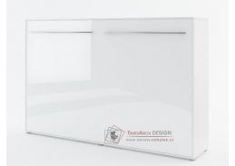 CONCEPT PRO CP-05, široká výklopná postel 120x200 cm, bílá / bílý lesk