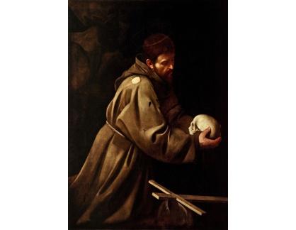 VCAR 38 Caravaggio - Svatý František při modlitbě