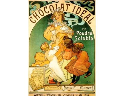 VAM59 Alfons Mucha - Chocolat Ideal