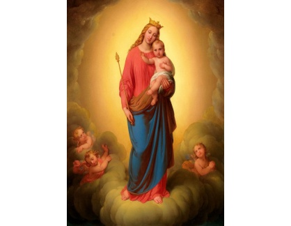 Slavné obrazy I-DDSO-230 Johann Nepomuk - Madonna s dítětem
