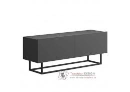 SPRING ERTV120, televizní stolek bez podstavy, grafit
