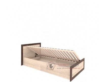 BOSS BS19, postel 90x200cm, dub sonoma / dub čokoládový
