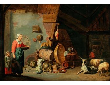 Slavné obrazy II-DDSO-375 Abraham Willemsen - Rolníci ve stodole
