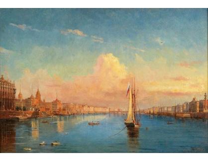 Slavné obrazy II-DDSO-410 Alexander Nikolajevič Mordvinov - Pohled na řeku