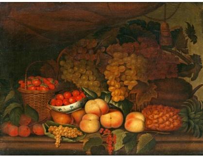 KO III-297 Neznámý autor - Zátiší s hroznovým vínem a dalším ovocem