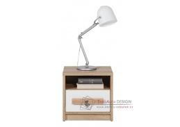 AYGO AG13, noční stolek, buk pískový / alpská bílá