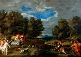 D-9363 Frans Wouters - Meleager a Atalanta loví kalydonského kance
