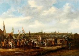 D-9427 Hendrick de Meijer - Odjezd španělských okupačních vojsk z Bredy roku 1637