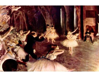 R6-45 Edgar Degas - Zkouška baletu na scéně