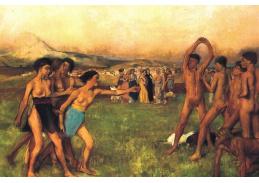 R6-211 Edgar Degas - Sparťanské dívky vyzývající chlapce