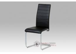 DCL-102 BK, jídelní židle, šedý lak / koženka černá