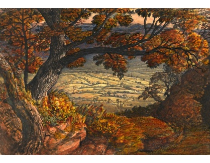 Slavné obrazy XIV-91 Samuel Palmer - Krajina Kentu