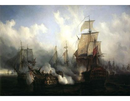 Slavné obrazy XVI-286 Auguste Mayer - Bitva u Trafalgaru