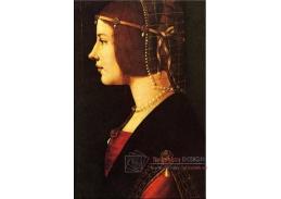 Leonardo da Vinci - Ženský portrét, 60x40cm