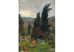 D-6104 Olga Wisinger-Florian - Večerní nálada nad hřbitovem