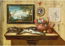 DDSO-4487 Antonio Mara - Zátiší s rybami na stole