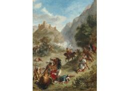 D-7831 Eugene Delacroix - Arabské potyčky v horách
