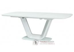 ARMANI, jídelní stůl rozkládací 160x90, bílá