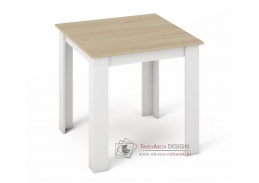 KONGO 80, jídelní stůl, bílá / dub sonoma