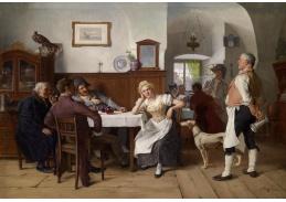 Slavné obrazy VIII-137 Josef Kinzel - V hospodě