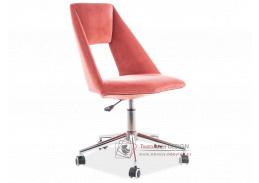 PAX VELVET, kancelářská židle, látka starorůžová