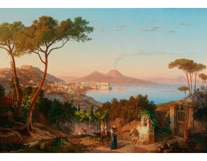 Slavné obrazy III-DDSO-512 Carl Wilhelm Götzloff - Pohled na Neapolský záliv