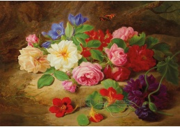 D-5934 Josef Lauer - Zátiší s růžemi a motýlem