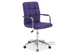 Kancelářská židle Q-022 ekokůže fialová