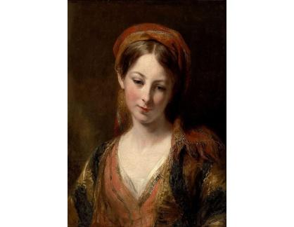 VANG91 Margaret Sarah Carpenter - Portrét mladé dívky