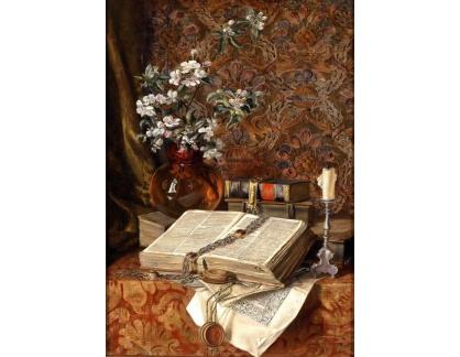 Slavné obrazy XVII-74 Francesco Malacrea - Zátiší s knihou