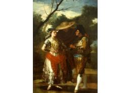 Slavné obrazy XVII-105 Francisco de Goya - Maja se dvěma toreadory
