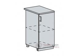 VALERIA, dolní skříňka 1-dveřová 40D, bílá / white stripe