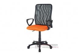 KA-B047 ORA, kancelářská židle, látka mesh černá + oranžová