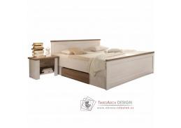 LUMERA, postel s nočními stolky 180x200cm, pinie bílá / dub sonoma truflový