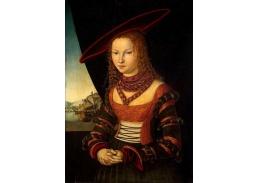 VlCR-09 Lucas Cranach - Portrét mladé ženy