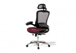 KA-A185 RED, kancelářská židle, látka mesh černá + červená