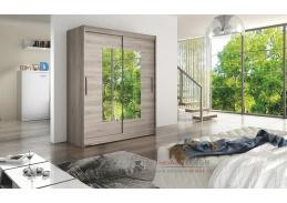 Šatní skříň s posuvnými dveřmi 150cm WESTA III dub lanýžový / zrcadlo
