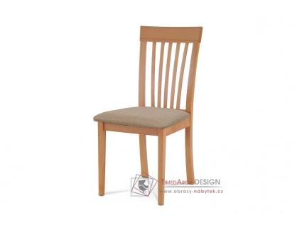 BC-3950 BUK3, jídelní židle, buk / látka béžová