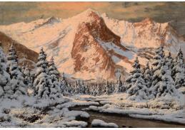 Slavné obrazy VIII-151 Laszlo Neogrady - Zimní krajina