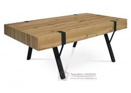 AHG-261 OAK, konferenční stolek 110x60cm, černý mat / divoký dub