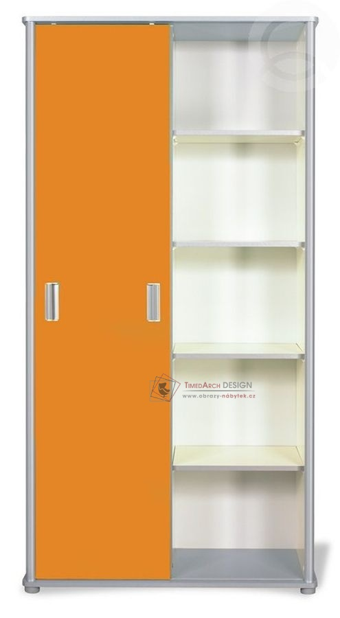 Skříň s posuvnými dveřmi COOL 03 oranžová